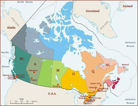Hand reading network in Canada: map!