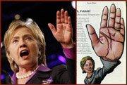 Hillary Clinton's simian line!