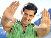 Hrithik Roshan's double thumb!