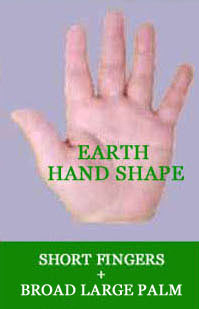 Elemental hand shapes: earth hand shape.