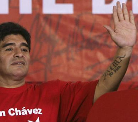 Diego Armando Maradona has the low '2D:4D digit ratio' in his left hand.