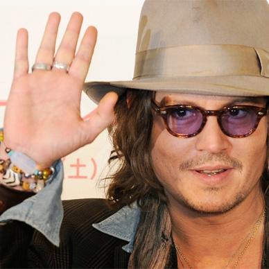 Johnny Depp hand gesture.