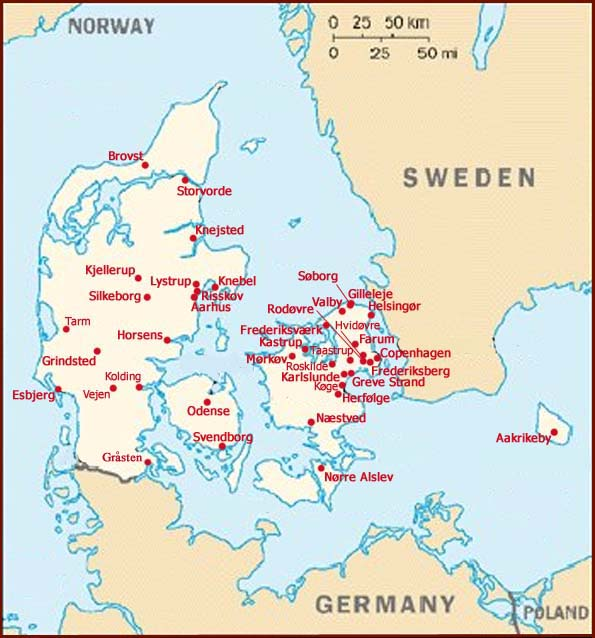 Hand reading network in Denmark: map!
