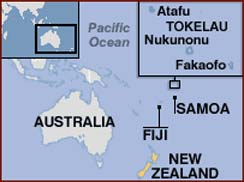 Hand reading network in Tokelau!