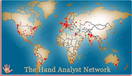 The Global Palm Reading Network map!