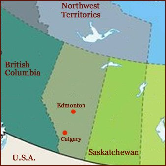 Hand reading network in the state of Alberta (CAN): map!