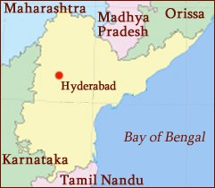 Hand reading network in the state of Andhra Pradesh (India): map!