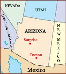 Hand reading network in the state of Arizona (US): map!