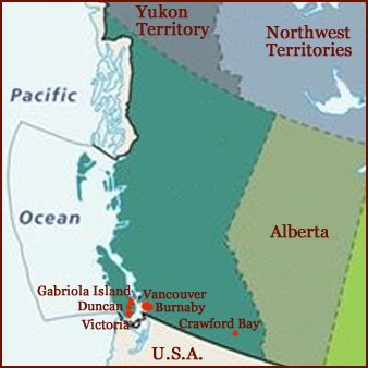 Hand reading network in the state of British Columbia (CAN): map!