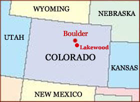 Hand reading network in the state of Colorado (US): map!