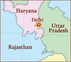 Hand reading network in the state of Delhi (India): map!