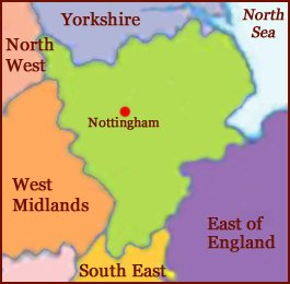 Hand reading network in East Midlands, England: map!