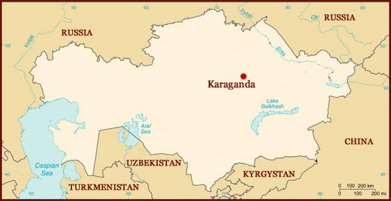 Hand reading network in Kazakhstan: map!