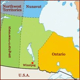 Hand reading network in the state of Manitoba (CAN): map!