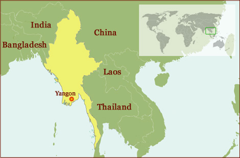 Hand reading network in Myanmar (Burma)!