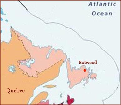 Hand reading network in the state of Newfoundland and Labrador (CAN): map!