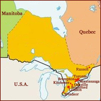 Hand reading network in the state of Ontario (CAN): map!