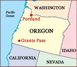 Hand reading network in the state of Oregon (US): map!