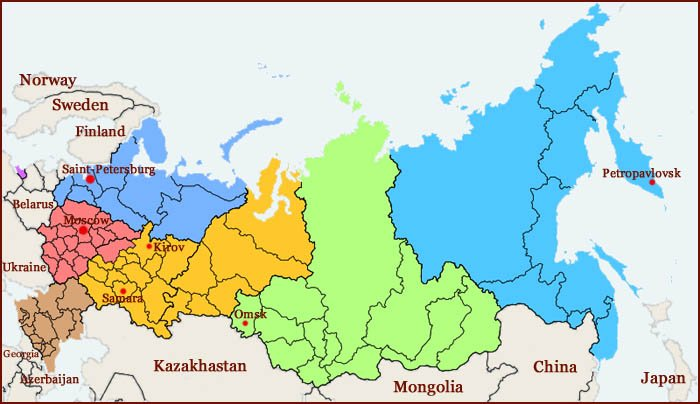 Hand reading network in Russia: map!
