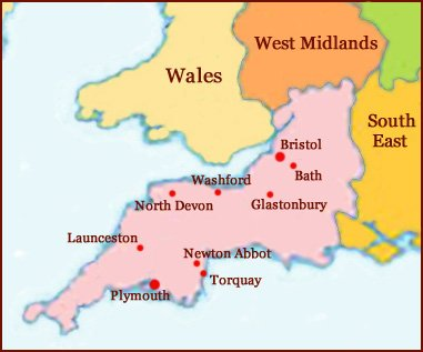 Hand reading network in South West (England): map!