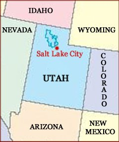 hand reading network in the state of utah us map
