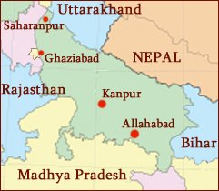 Hand reading network in the state of Uttar Pradesh (India): map!