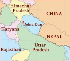 Hand reading network in the state of Uttarakhand (India): map!
