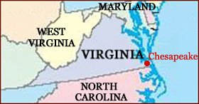 Hand reading network in the state of Virginia (US): map!