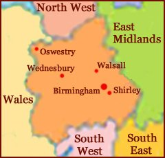 Hand reading network in West Midlands (England): map!