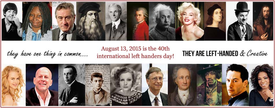 August 13, 2015 is the 40th left handers day!