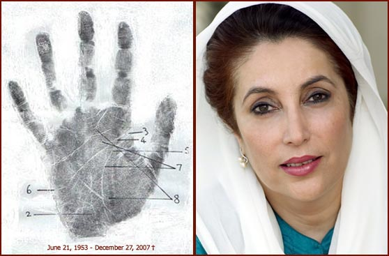 Benazir Bhutto - Palmprint of Destiny!