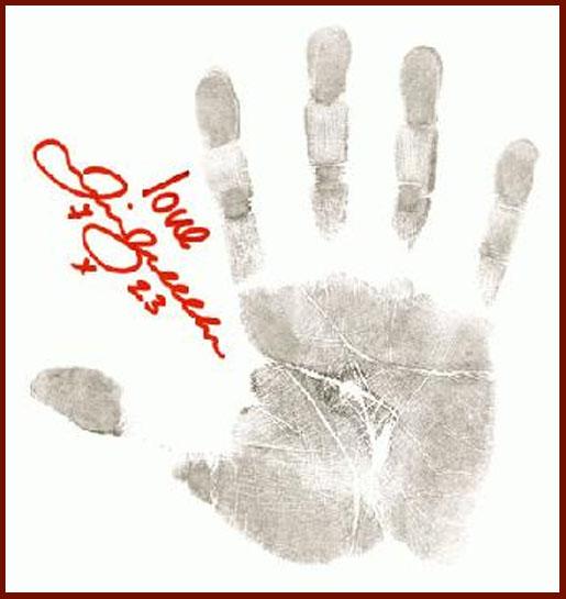 David Beckham's handprint