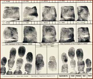 Fingerprinting by police