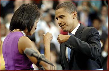Barack and Michelle Obama bump fists: a brief history of the fist bump!