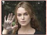 Keira Knightley's handprint.