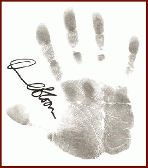 Orlando Bloom's handprint