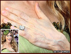 The hands of Sarah Jessica Parker.