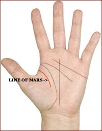 The line of Mars