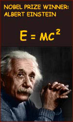 Albert Einstein: E = mc<sup>2</sup>.