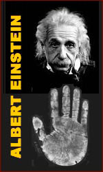 Albert Einstein handprint.