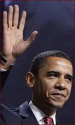 Barak Obama: the right hand.