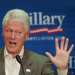 Bill Clinton: his left hand.