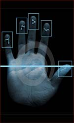 Biometric hand scan