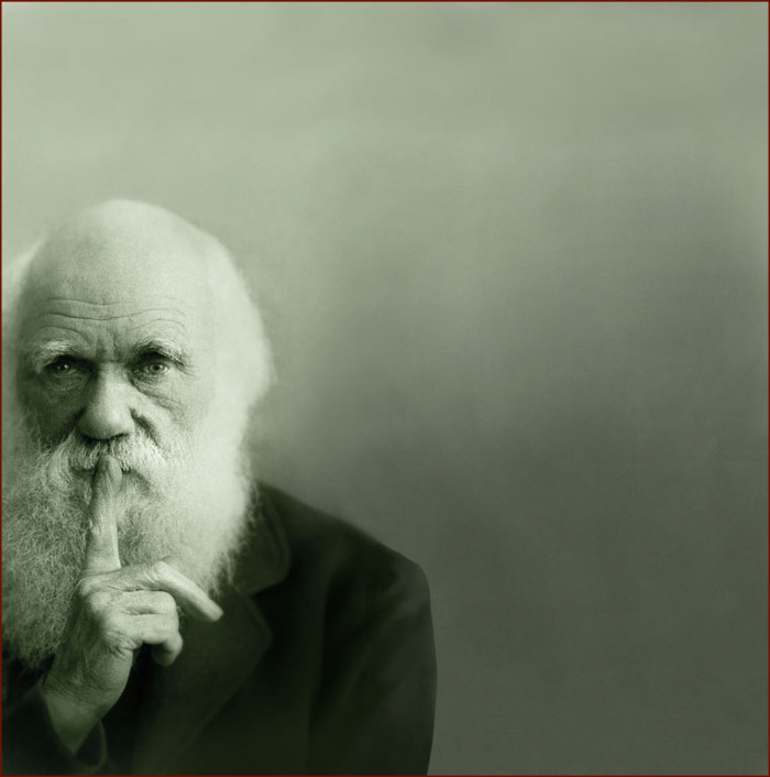 Charles Darwin had the long pointer finger - photo: Natural History Museum (London).