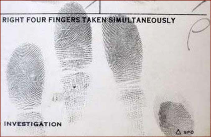 Elvis Presley's fingerprints