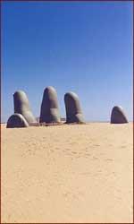 Finger beach sculpture.