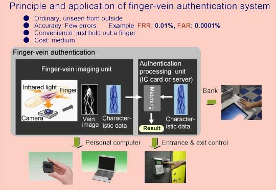 Finger vein authentification