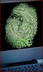 Fingerprinting details studied on a computer.