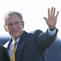 George W. Bush: his left hand.