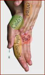Hand hygiene is the first step towards swine flu prevention!